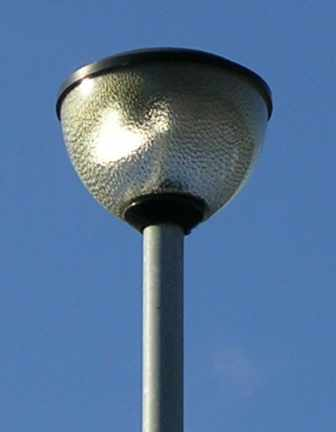 An Industria 2015 Post Top Lantern For 70w SON Lamps; This Example Is In  Carlton, Nottingham.